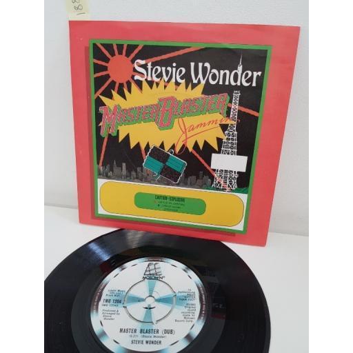 STEVIE WONDER Master blaster (jammin'), Master Blaster (dub). 7 inch single vinyl. TMG1204