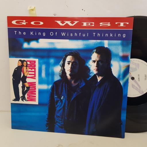 """GO WEST the king of wishhful thinking. 4 track 12"""" vinyl SINGLE. GOWX8"""