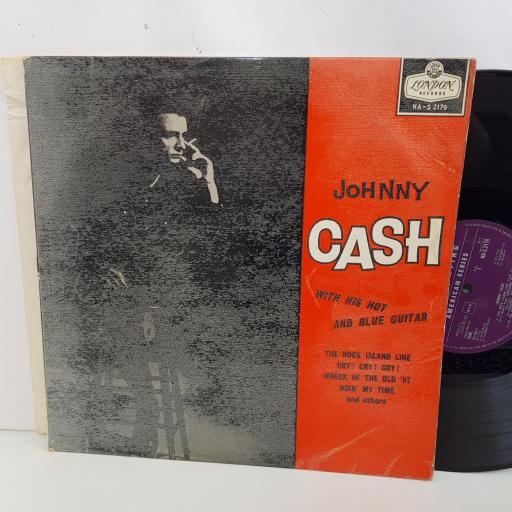 """JOHNNY CASH with his hot and blue guitar. 12"""" vinyl LP. HAS2179"""