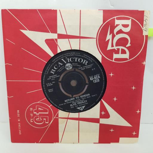 ELVIS PRESLEY Return to sender, Where do you come from. 7 inch single vinyl. RCA1320