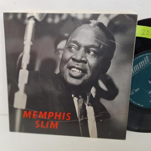 MEMPHIS SLIM THE WPRLDS FOREMOST BLUES SINGER. Cold-blooded women, Lonesome, It's been so long, I'll just keep on singing the blues. 7 inch single vinyl. LSE2041
