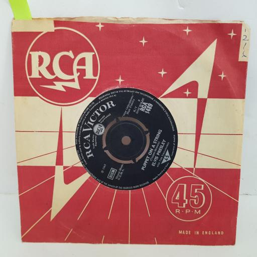 ELVIS PRESLEY Puppet on a string, Tell me why. 7 inch single vinyl. RCA1489