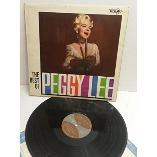 PEGGY LEE the best of Peggy Lee STEREO cps37