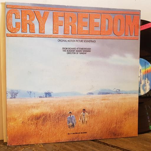 "CRY FREEDOM. Original Motion Picture Soundtrack. Music by George Fenton and Jonas Gwangwa . 12"" VINYL LP. MCG6029"