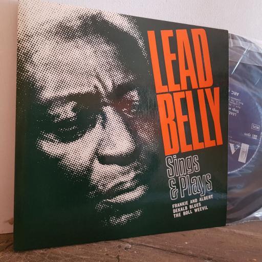 "LEAD BELLY sings and plays Frankie and Albert. Deklab blues.The Boll Weevil. 7"" vinyl 4 TRACK EP SINGLE. ARC68"