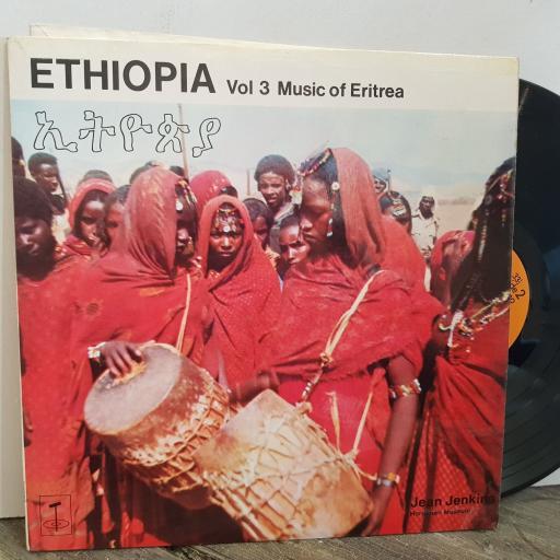 "JEAN JENKINS ETHIOPIA Vol 3 Music of Eritrea. VINYL 12"" LP. TGM103"