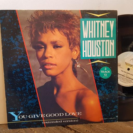 "WHITNEY HOUSTON you give good love. VINYL 12"" 3 TRACK SINGLE. 12625"