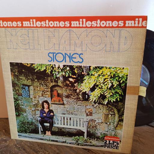 """NEIL DIAMOND milestones 2 LPS STONES and MOODS. VINYL 12"""" LP. SC18452096"""