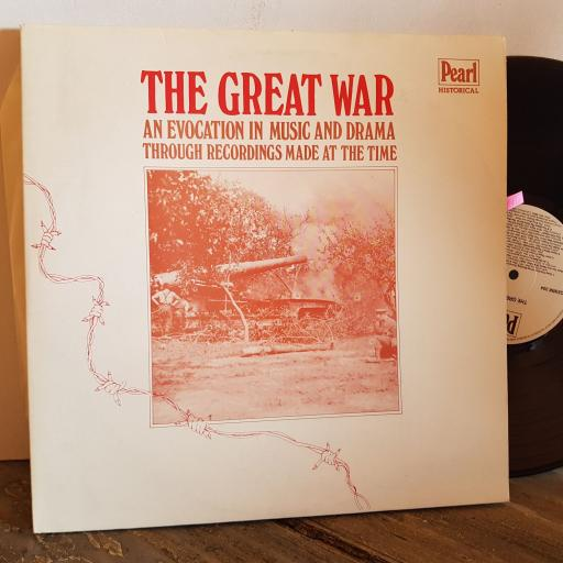 """THE GREAT WAR An evocation in music and drama through recordings made at the time. VINYL 12"""" LP. GEMM303"""