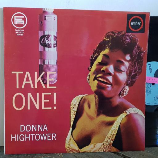"""DONNA HIGHTOWER take one. 12"""" VINYL LP. 2051"""
