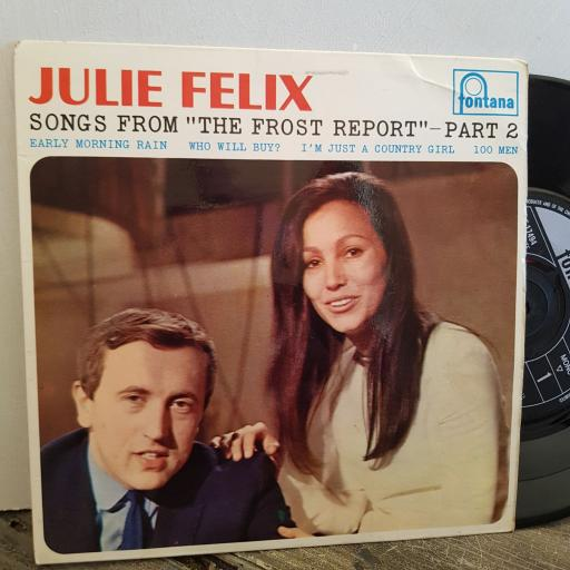 """JULIE FELIX song's from the Frost Report. PART 2. 4 TRACK 7"""" vinyl EP. TE17494"""