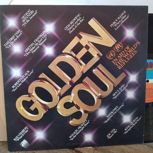 """GOLDEN SOUL Otis Redding, Percy Sledge, Ben E King, Sam and Dave, King Curtis etc etc. VINYL 12"""" LP. K50332"""