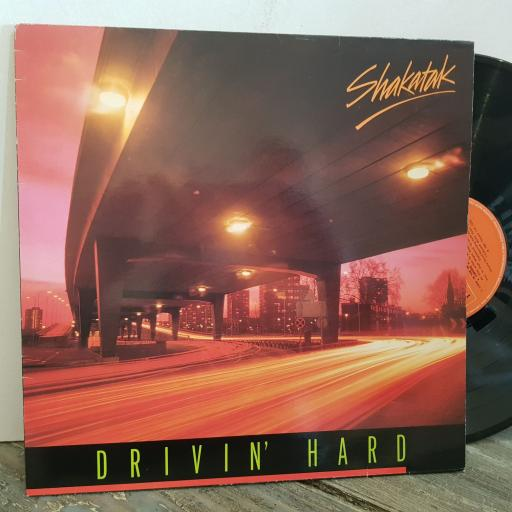 "SHAKATAK drivin' hard . VINYL 12"" LP. POLS1030"