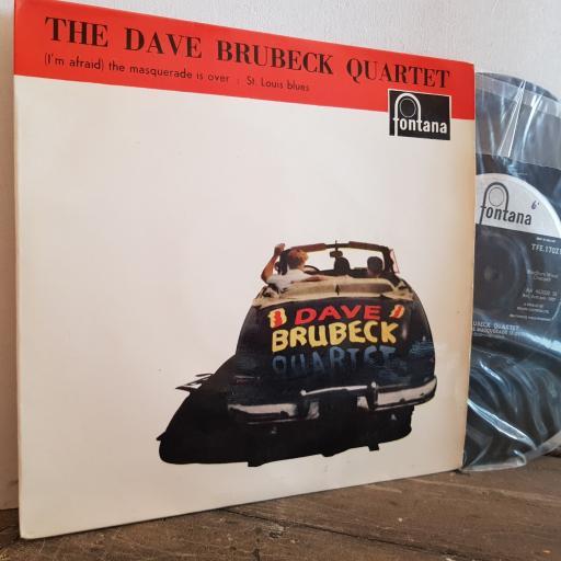 "THE DAVE BRUBECK QUARTET I'm afraid the masquerade is over. 7"" vinyl 4 TRACK EP SINGLE. TFE17021"