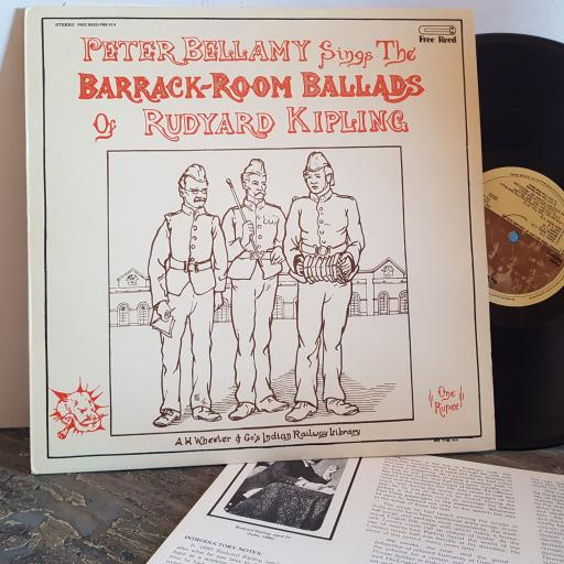 "PETER BELLAMY Barrack Room Ballads of Rudyard Kipling. VINYL 12"" LP. FRR014"
