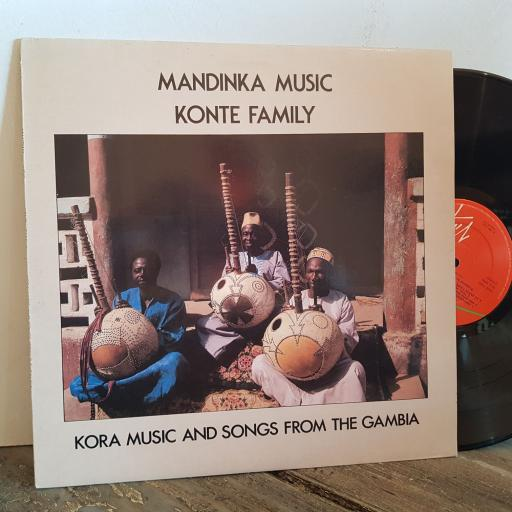 "MANDINKA MUSIC KONTE FAMILY kora music and songs from the Gambia. VINYL 12"" LP. VX1006"