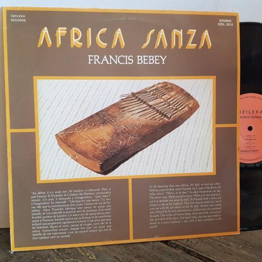 """FRANCIS BEBEY Africa Sanza. VINYL 12"""" LP. OZIL3312"""