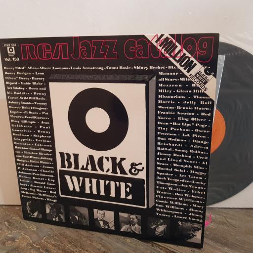"BLACK & WHITE JAZZ CATALOG Sonny Rollins, Jimmy Witherspoon, Coleman Hawkins, Art Blakey, Fats Waller, Johnny Dodds etc. VINYL 12"" LP. FXM27080"