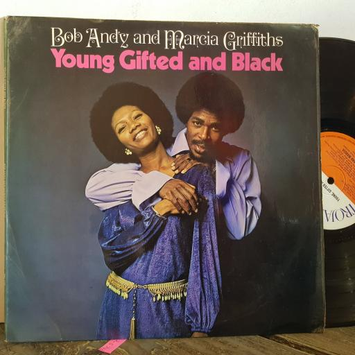 """BOB ANDY and MARCIA GRIFFITHS young gifted and black. 12"""" VINYL LP. TBL122"""