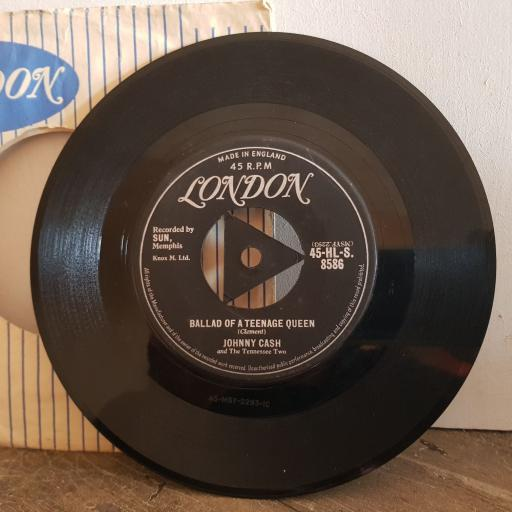 "JOHNNY CASH and the TENNESSEE TWO ballad of a teenage queen. big river. 7"" vinyl SINGLE. 45HLS8586"