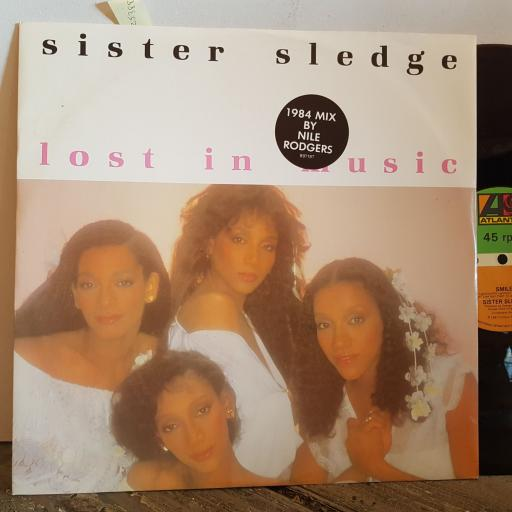 "SISTER SLEDGE lost in music 1984 MIX BY NILE RODGERS. VINYL 12"" LP. B9718T"