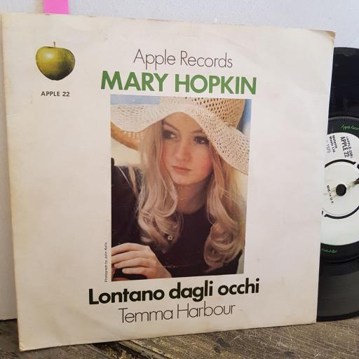 "MARY HOPKIN temma harbour. lontano dagli occhi. 7"" vinyl SINGLE. APPLE22"