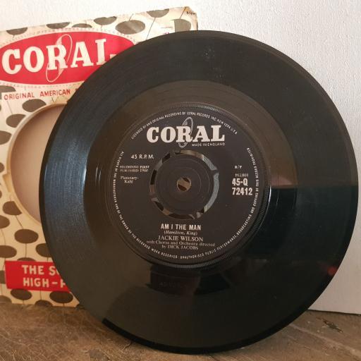 "JACKIE WILSON I am the man. alone at last. 7"" vinyl SINGLE. 45Q72412"