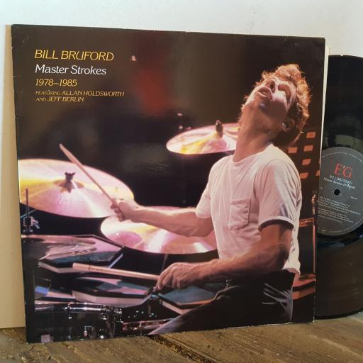 """BILL BRUFORD master strokes 1978-1985. VINYL 12"""" LP. EGLP67"""