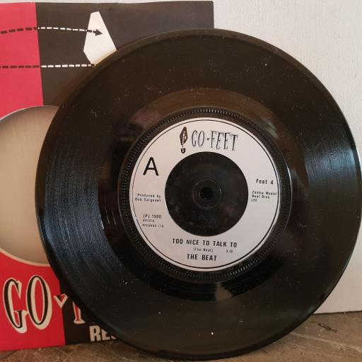 """THE BEAT too nice to talk to. psychedelic rockers. 7"""" vinyl SINGLE. FEET4"""