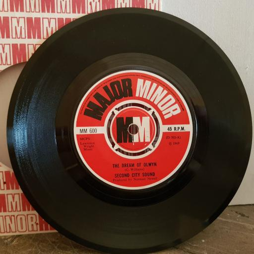 """SECOND CITY SOUND the dream of olwyn. a touch of velvet a sting of brass. 7"""" vinyl SINGLE. MM600"""