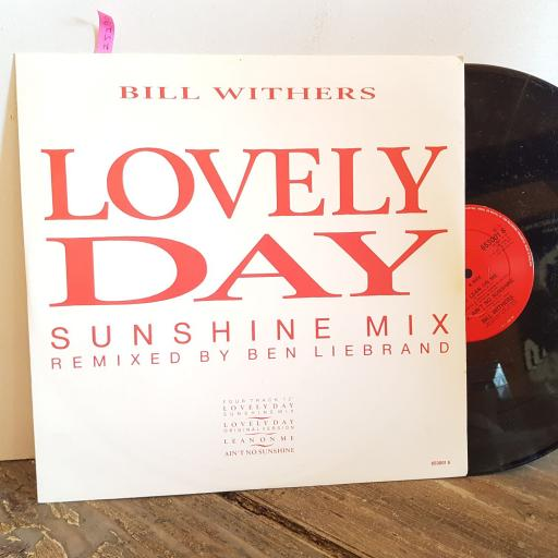 "BILL WITHERS lovely day Sunshine Mix. VINYL 12"" 4 TRACK SINGLE. 6530016"