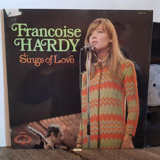 "FRANCOISE HARDY sings about love. VINYL 12"" LP. HMA219"