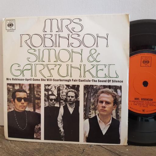 "SIMON and GARFUNKLE mrs robinson. 7"" vinyl 4 TRACK EP SINGLE. EP6400"