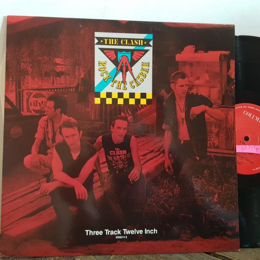 "THE CLASH rock the casbah. 3 track 12"" VINYL SINGLE. 6568146"