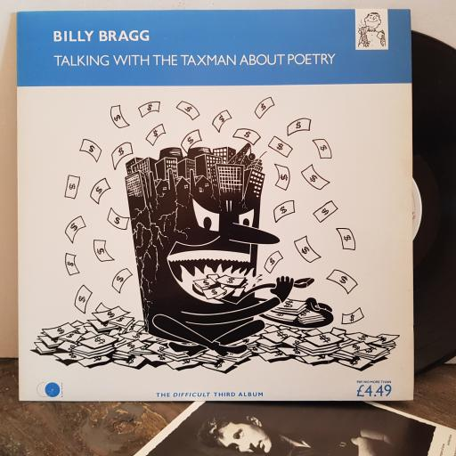 """BILLY BRAGG talking with the taxman about poetry . VINYL 12"""" LP. AGOLP6"""