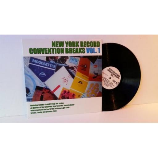 "NEW YORK RECORD CONVENTION BREAKS VOL 1. 12"" VINYL LP. NYRC 7001"