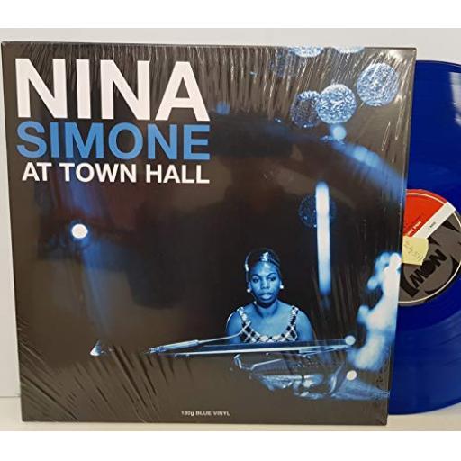 "NINA SIMONE at town hall coloured vinyl blue. notlp249. 12"" VINYL LP"