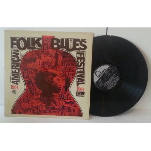 "American folk blues festival 1963. Sonny Boy Wiilliamson, Memphis Slim, Lonnie Johnson, Willie Dixon. 12"" VINYL LP."