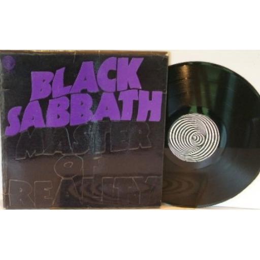 "BLACK SABBATH master of reality, embossed sleeve, 12"" VINYL LP. 6360 050. INCLUDING POSTER"