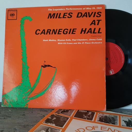 "MILES DAVIS At carnegie hall, 12"" vinyl LP. CL1812"