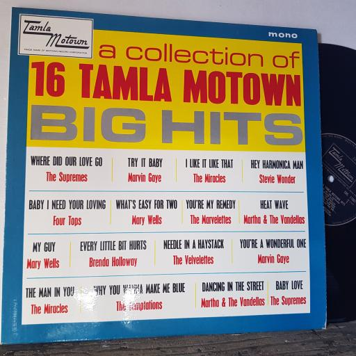 "A collection of 16 tamla motown hits. SUPREMES, MARVIN GAYE, MARY WELLS, STEVIE WONDER ETC 12"" vinyl LP compilation. TML11001"