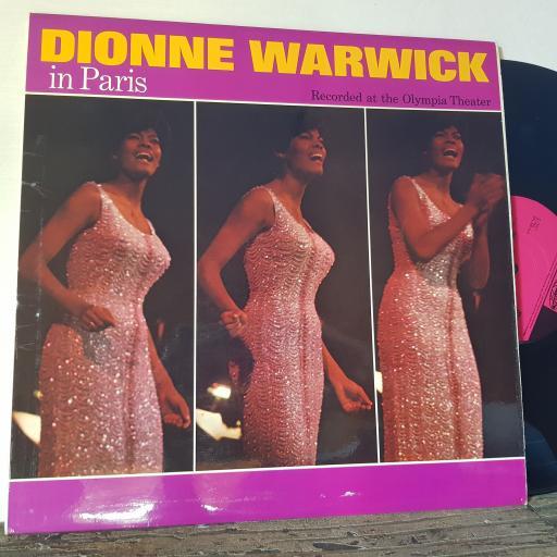 "DIONNE WARWICK In paris, 12"" vinyl LP. NPL28076"