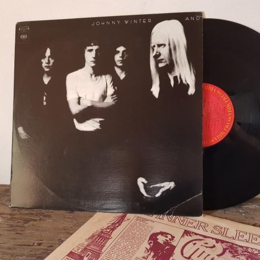 "JOHNNY WINTER AND, 12"" vinyl LP. AL30221"