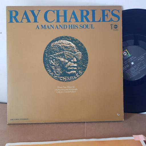 "RAY CHARLES, A man and his soul . 2x 12"" VINYL LP. ABCS590X"