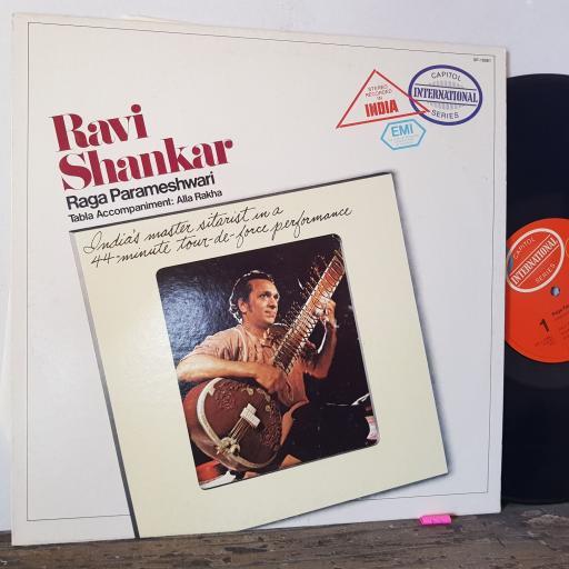 """RAVI SHANKAR Raga parameshwari, 12"""" vinyl LP. SP10561"""