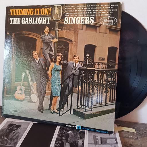 "THE GASLIGHT SINGERS Turning it on, 12"" vinyl LP. MG20923"