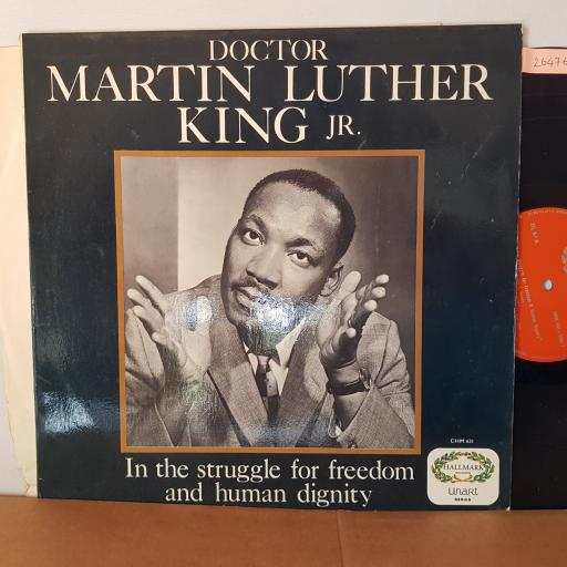 "DR. MARTIN LUTHER KING JNR., ""In the struggle for freedom & human dignity"". 12"" VINYL LP. CHM631"