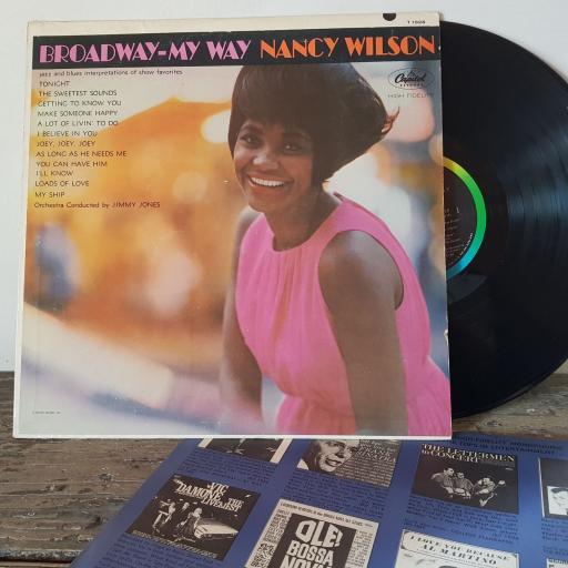 """NANCY WILSON Broadway - my way, 12"""" vinyl LP. T1828"""