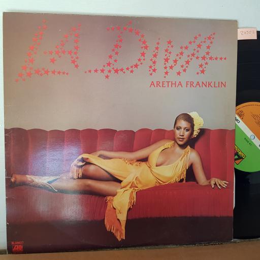 "LA DIVA. Aretha Franklin, 12"" VINYL LP,K50637."