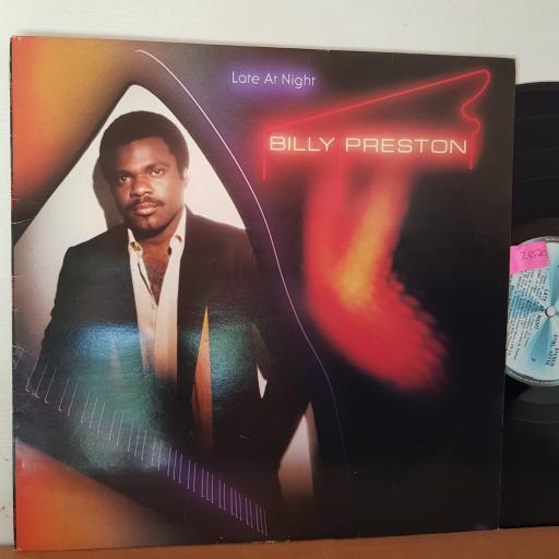 "BILLY PRESTON late at night 12"" VINYL LP. STML12116"